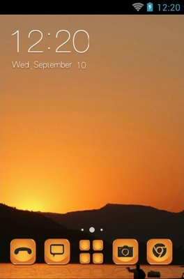 android theme 'Udaipur Sunset'