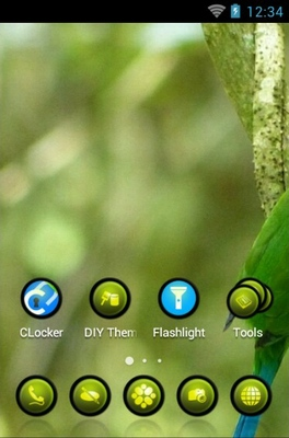 Long-Tailed Broadbill android theme home screen