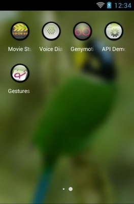 Long-Tailed Broadbill android theme application menu