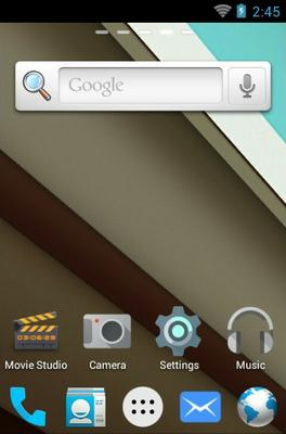 Android L android theme home screen