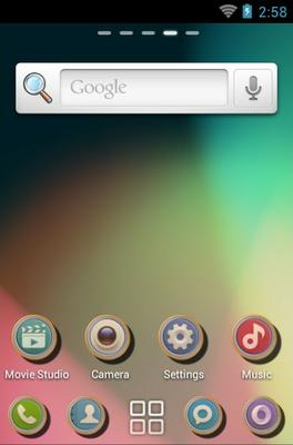 Shadow android theme home screen