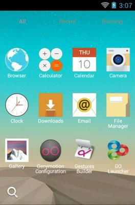 LG G3 android theme application menu