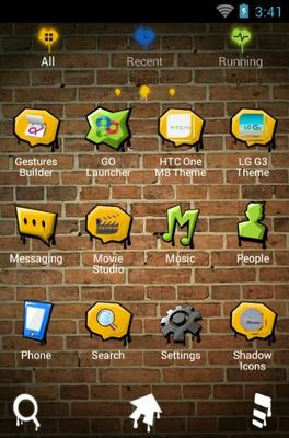 My Youth android theme application menu