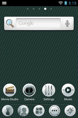 Sole android theme home screen