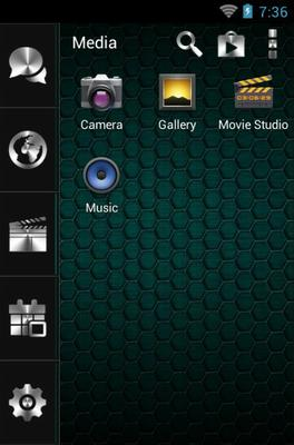 Morph android theme application menu