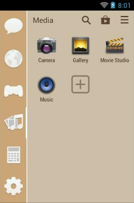 Bamboo android theme application menu