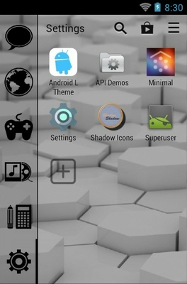 Absence Of Light android theme application menu