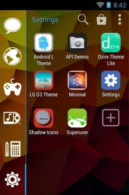 Dzire Lite Ios 7 Android Theme For Smart Launcher 2 | androidlooks com