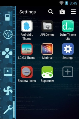 Jarvis android theme application menu