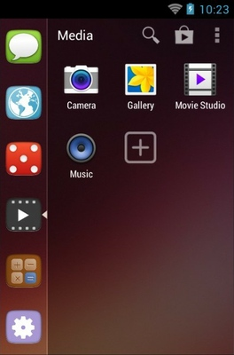 Unity android theme application menu