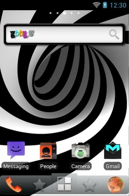 Colorwarp Lite android theme home screen