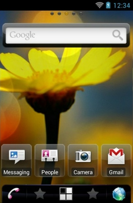 Wildflower android theme home screen