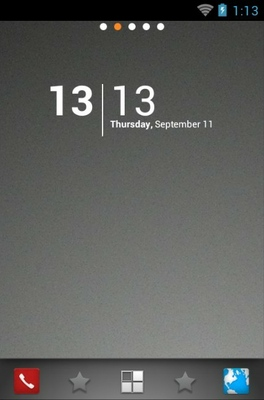 android theme 'Shadow Dock'