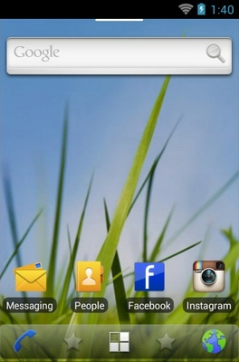 Symbian android theme home screen