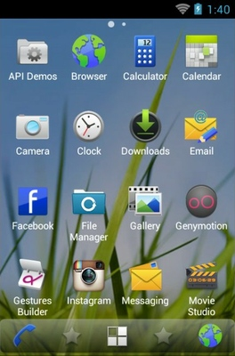 Symbian android theme application menu
