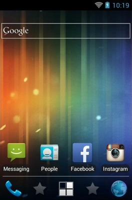Ice Cream Sandwich android theme home screen