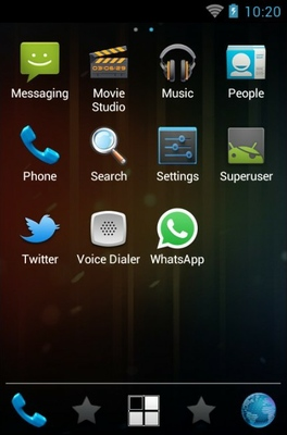 Ice Cream Sandwich android theme application menu
