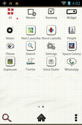 Drawing Note android theme application menu