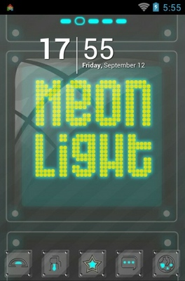Neon Light android theme