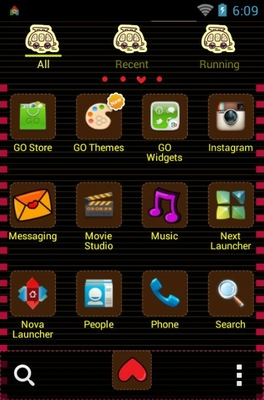 Low CO2 android theme application menu