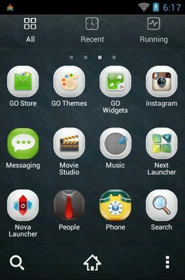 X-Still android theme application menu