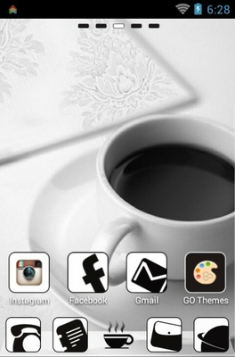Coffee android theme home screen