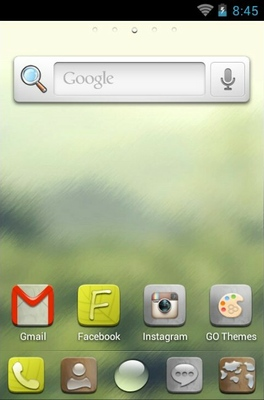 H-Droplet android theme home screen