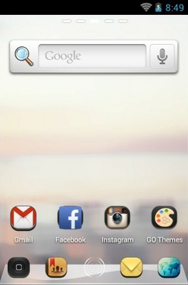 Zanyway android theme home screen