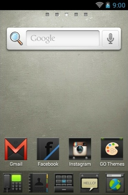 Hi Black android theme home screen