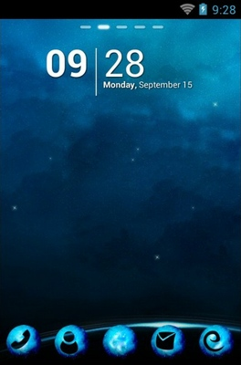 android theme 'Blue Planet'