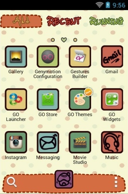Why android theme application menu