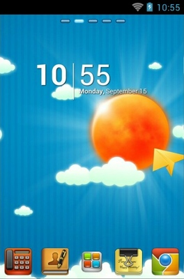 android theme 'Sun And Sky'