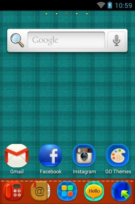Plaid Complex android theme home screen