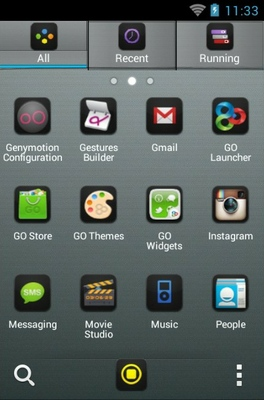 iPhone 5 Black android theme application menu