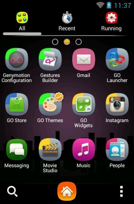 After The Rain android theme application menu