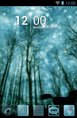 android theme 'Dark Forest'