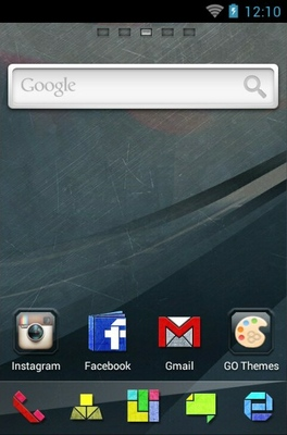 Graphics android theme home screen