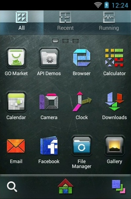 Graphics android theme application menu