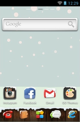 Winter android theme home screen