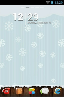 Winter android theme wallpaper