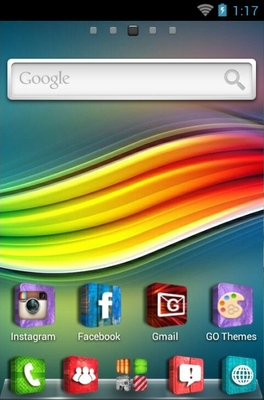 3D Icons android theme home screen