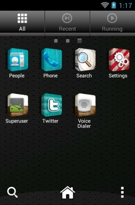 3D Icons android theme application menu