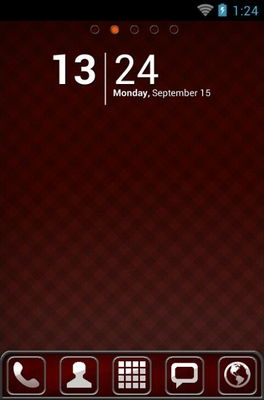 Red Chrome android theme