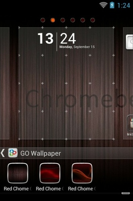 Red Chrome android theme wallpaper
