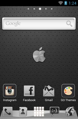 iPhone Graphite android theme home screen