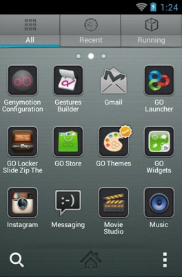 iPhone Graphite android theme application menu