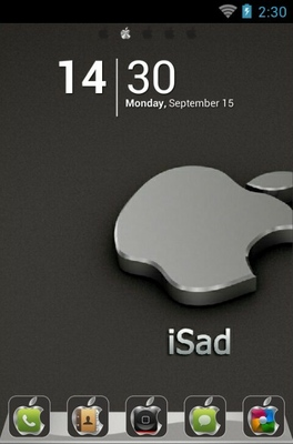 android theme 'iSad'