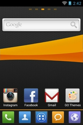 MIUI X4 android theme home screen