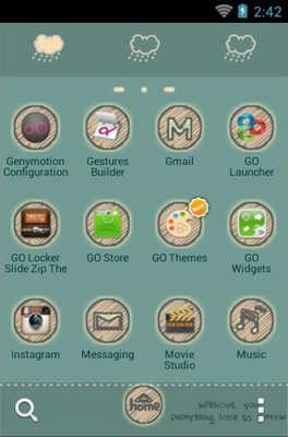 Cry Cloud android theme application menu