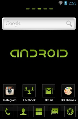 C.Black android theme home screen